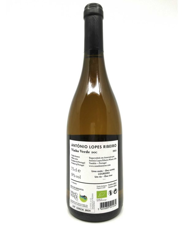 Antonio Lopes Ribeiro Vinho verde back label