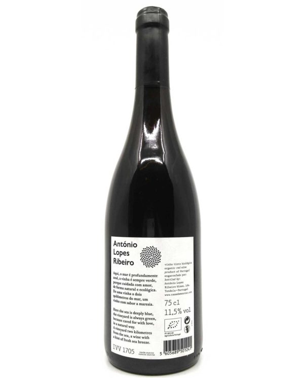 Antonio Lopes Ribeiro Vinho Tinto back label