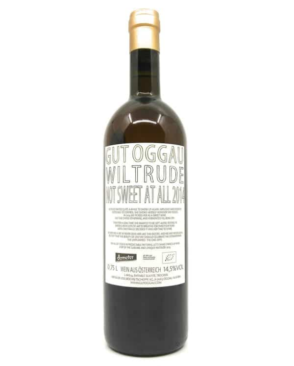 Gut Oggau Wiltrude backlabel