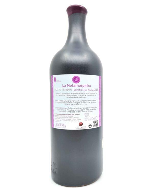 Costador Garnatxa Amphorae back label