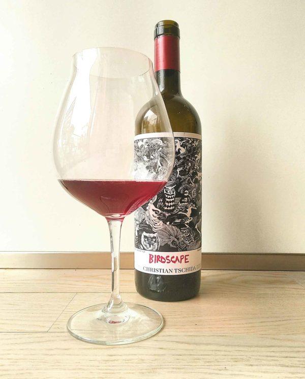 Tschida Birdscape bottle and glass
