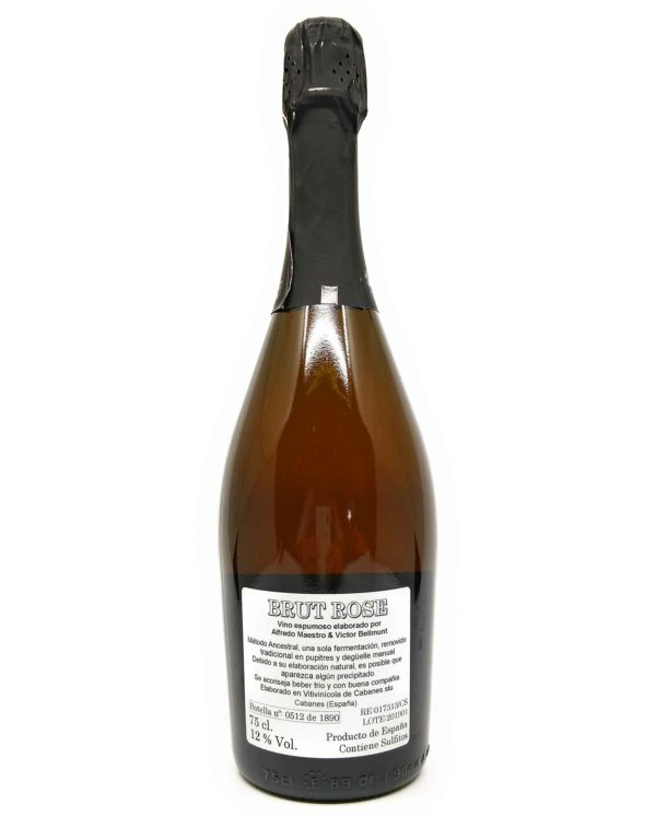 alfredo maestro brut rose back label