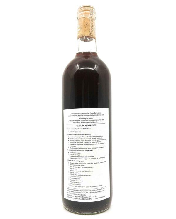 vinos Ambiz Carbonic Maceration