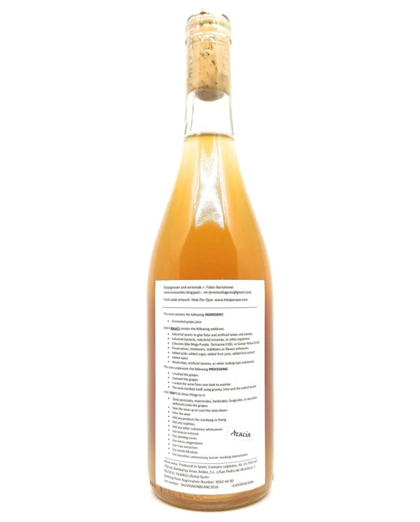vinos ambiz sauvignon blanc acacia back label
