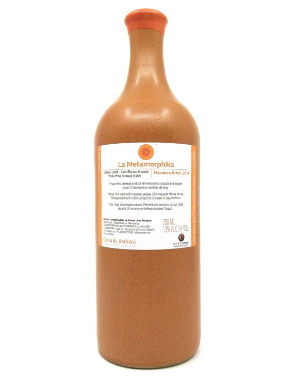 Costador Macabeu Orange 2019 back label