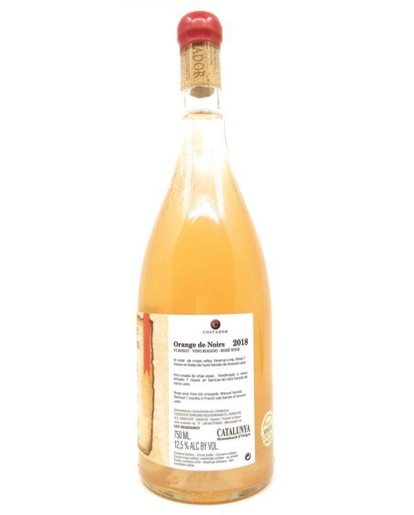 Costador orange de Noirs 2018 side label
