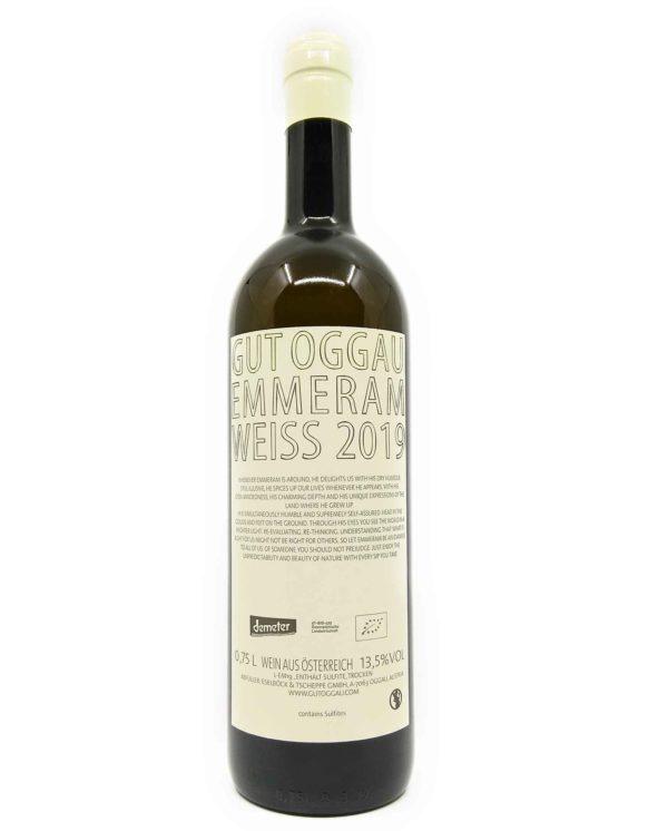 Gut Oggau Emmeram 2019 back label