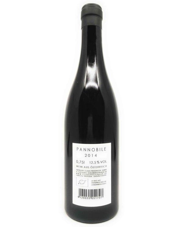 Preisinger Pannobile 2014 back label