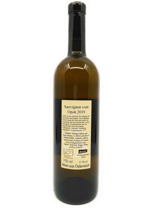 muster sauvignon blanc 2019 backlabel
