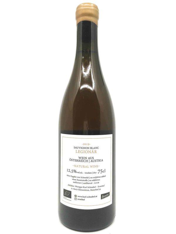 Schnabel Sauvignon Blanc Legionär 2019 backlabel