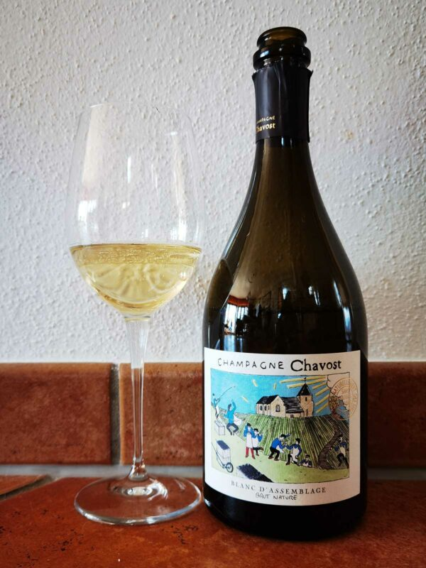 Champagne Chavost Blanc d'Assemblage glass